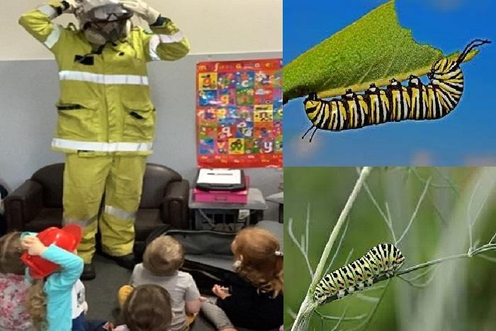 Caterpillars and Firefighter (Huxley Room Activities)